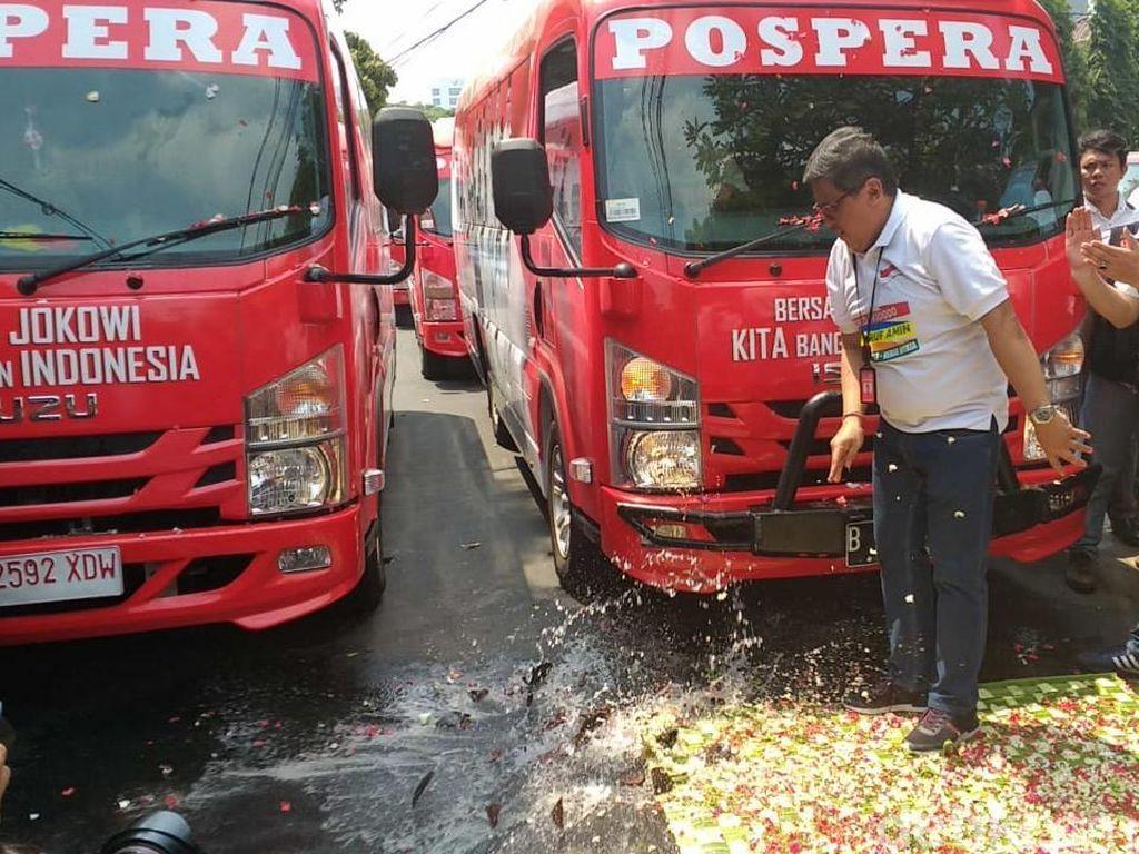 Timses Jokowi-Maruf Amin Luncurkan 5 Minibus Tim Pemenangan