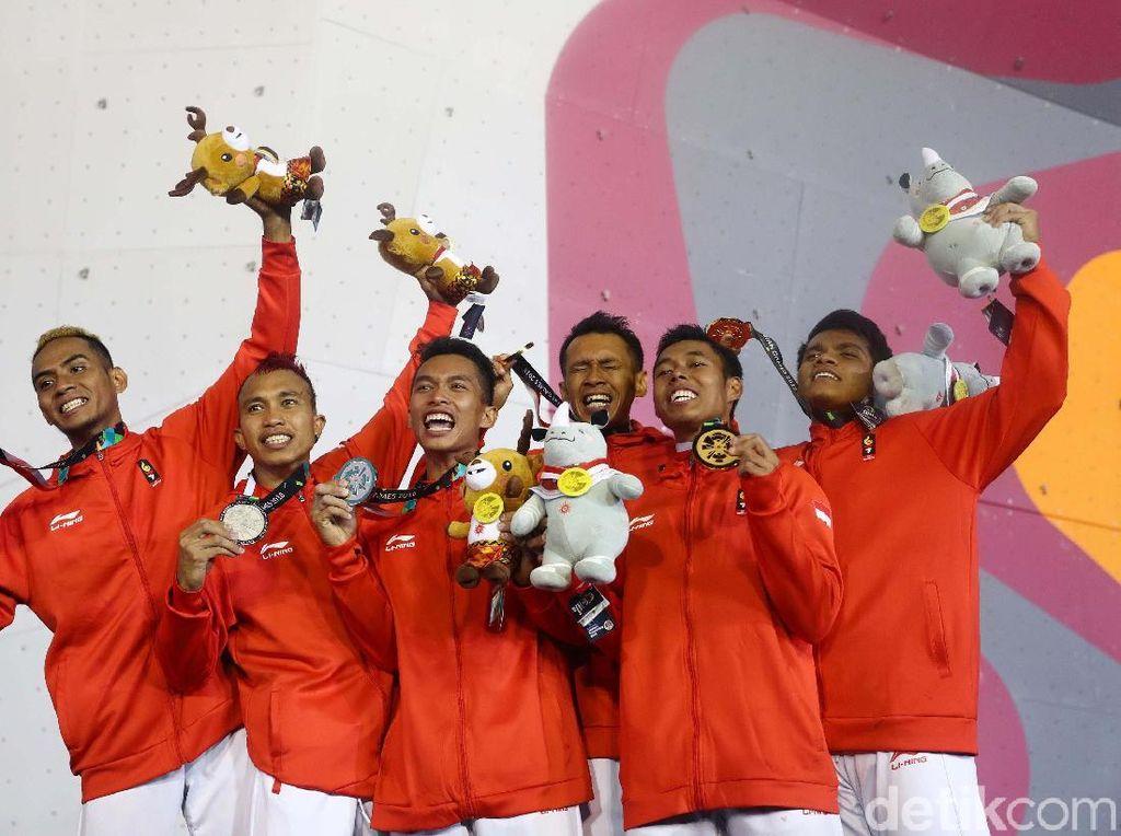 Raih 3 Emas di Asian Games 2018, Panjat Tebing Kini Bidik Olimpiade 2020