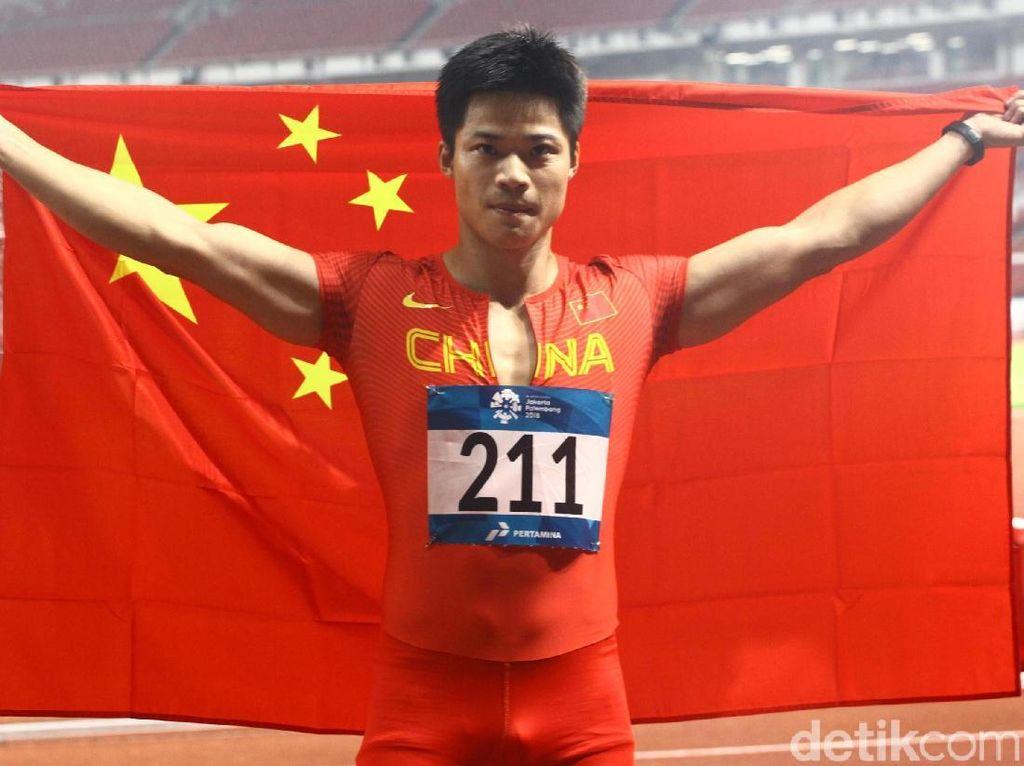 Su Bingtian Raih Emas di Lari 100 Meter Putra