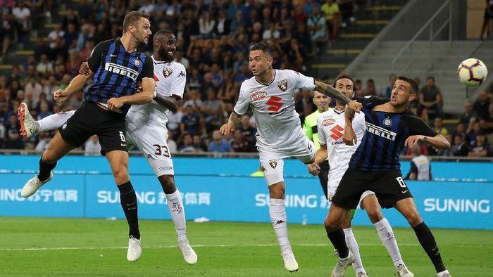 Inter Milan diimbangi Torino 2-2 dalam lanjutan Liga Italia (Foto: Emilio Andreoli/Getty Images)