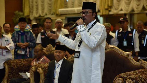 Dirjen Haji dan Dubes Lepas Pemulangan Perdana Kloter Jemaah Haji