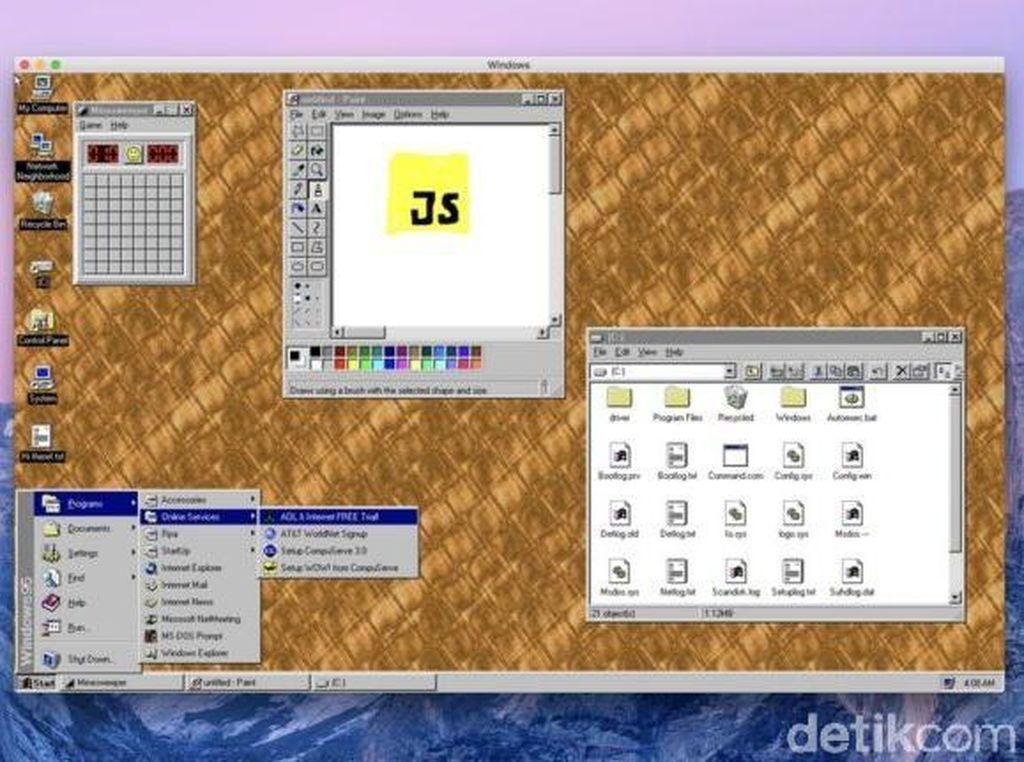 Windows 95 Kini Hadir dalam Bentuk Aplikasi