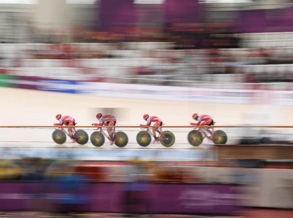 Balap Sepeda Trek Belum Persembahkan Medali