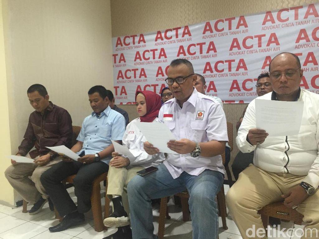 ACTA: Deklarasi #2019GantiPresiden Bukan Sebarkan Kebencian
