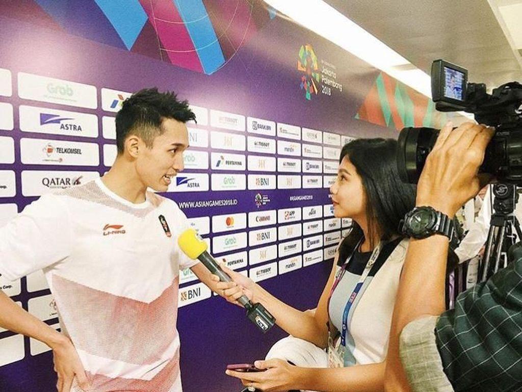Jonatan Christie Juara Lalu Buka Baju, Reporter Asian Games Gagal Fokus
