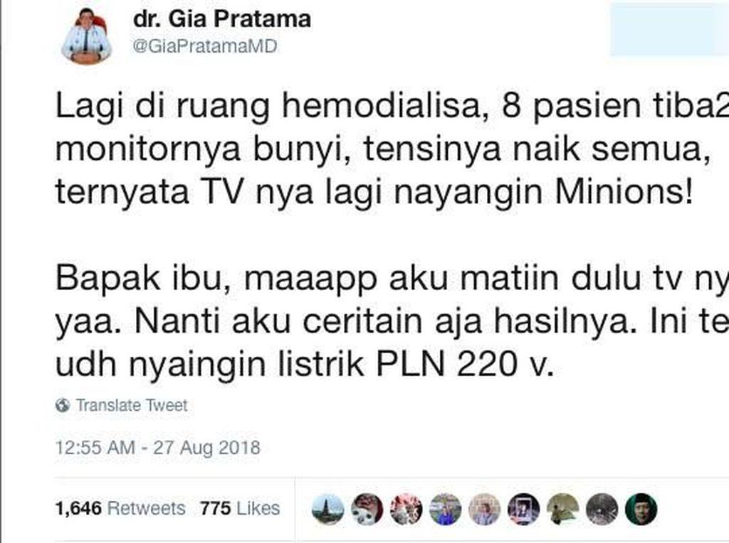 Viral Kisah Pasien Hemodialisis Tensinya Naik Gara-gara Nonton Minions