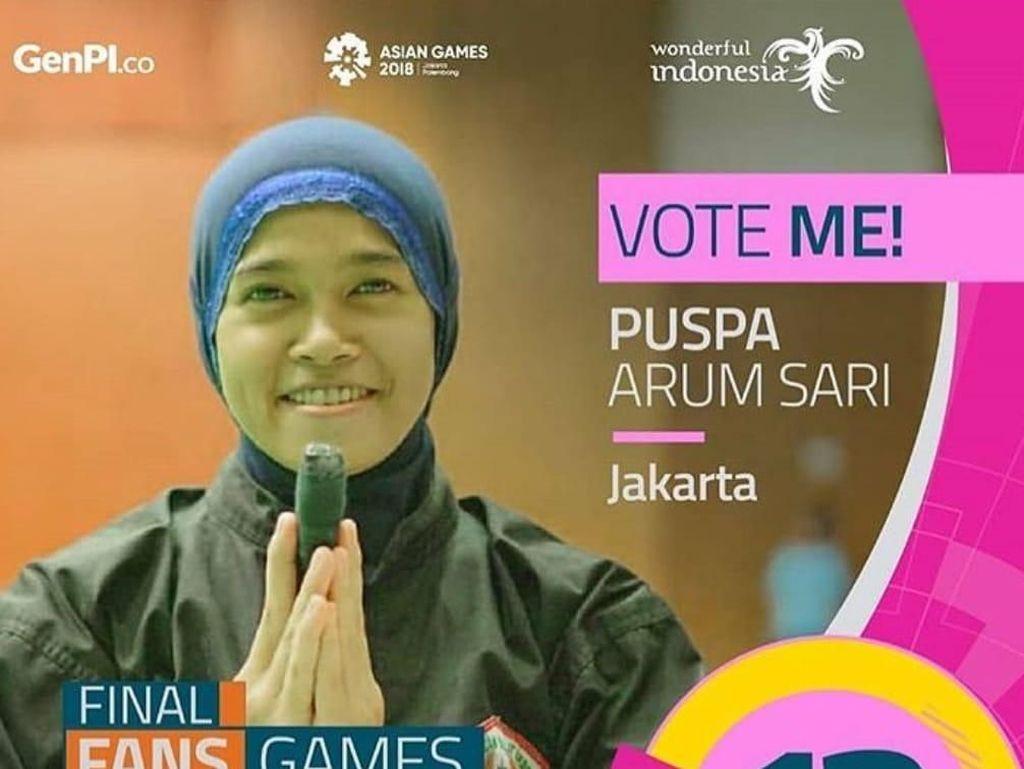 Puspa Arum Sari Puncaki Voting Atlet Favorit Kemenpar