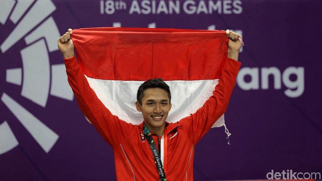 Aksi-aksi Jonatan Christie yang Berbuah Emas ke-23 Indonesia