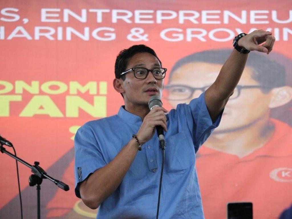 Kontroversi Sandiaga Dorong Politikus Shut Up!