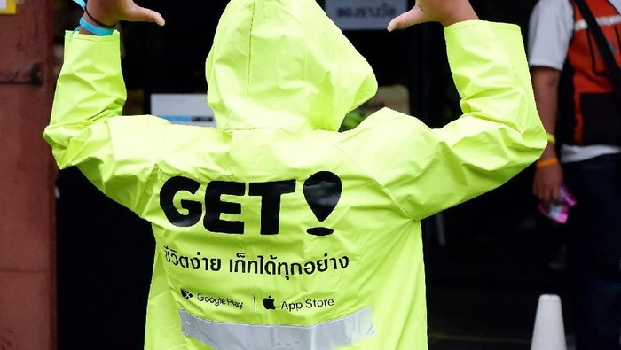 Get, jelmaan Go-Jek di Thailand, mulai memperluas daerah operasinya di Bangkok. Foto: Facebook/GET Driver
