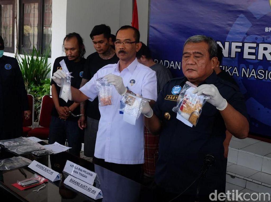 Kendalikan Peredaran Sabu dari Lapas, 2 Napi Diciduk BNNP Jateng