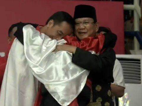 Prabowo dan Jokowi saat Asian Games 2018.