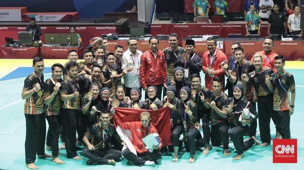Indonesia mendulang 14 medali emas Asian Games 2018 dari cabor pencak silat. (