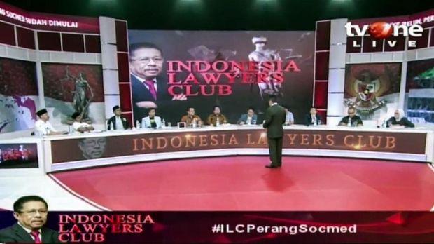 Ilustrasi Talk Show Indonesia Lawyers Club tvOne
