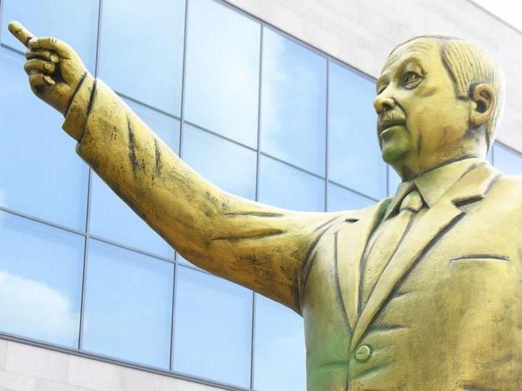 Picu Pertikaian, Patung Erdogan di Kota Wiesbaden Disingkirkan