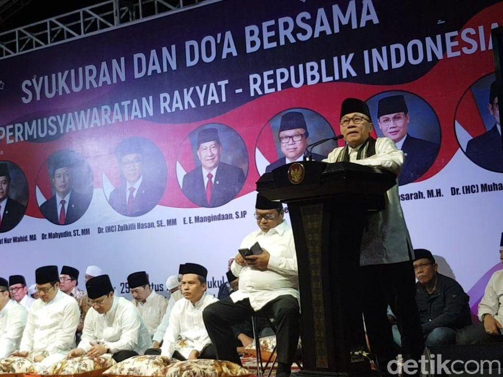 Zulkifli Hasan: Jokowi-Prabowo Akur, Pendukung Jangan Emosional