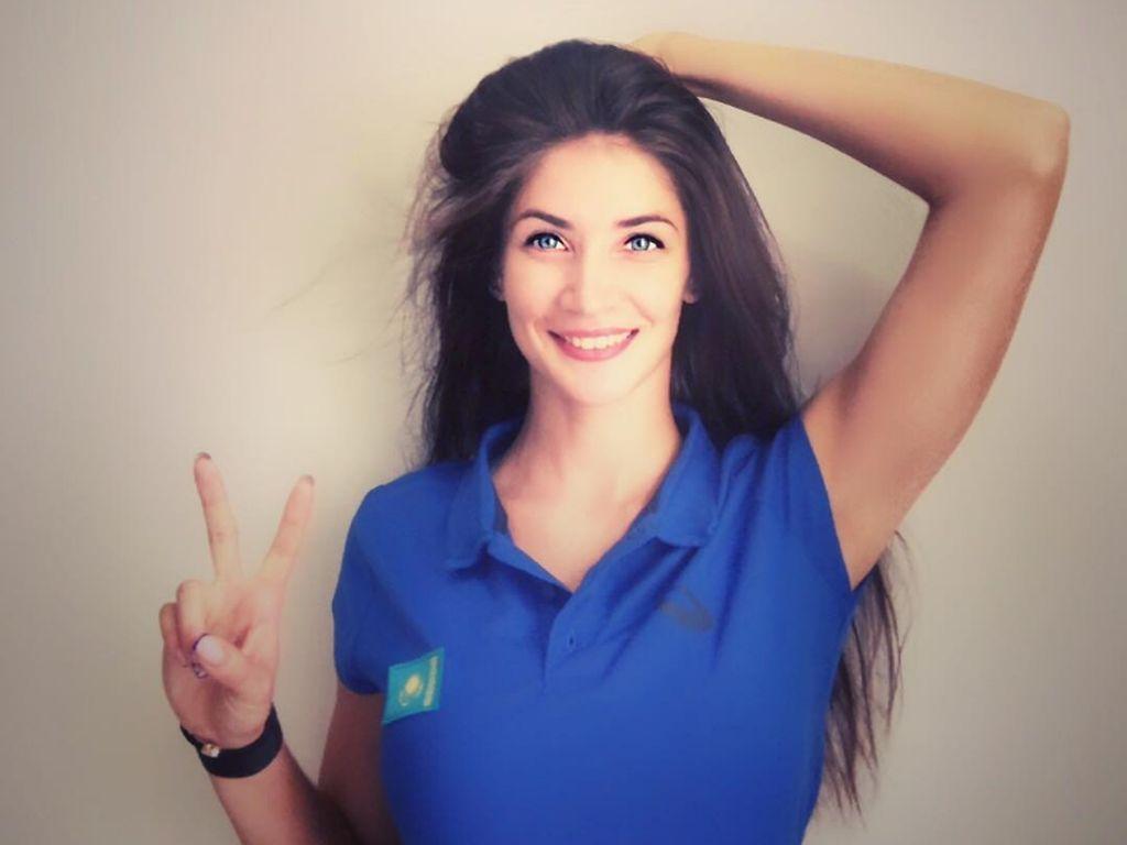 Intip Rahasia Smash Keras Atlet Voli Kazakhstan Kristina Karapetyan