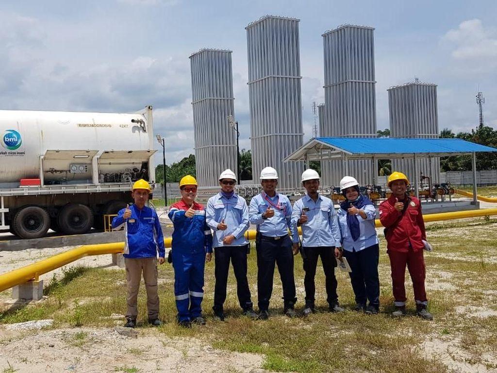 Pertamina Pasok LNG Pertama untuk Industri di Dumai