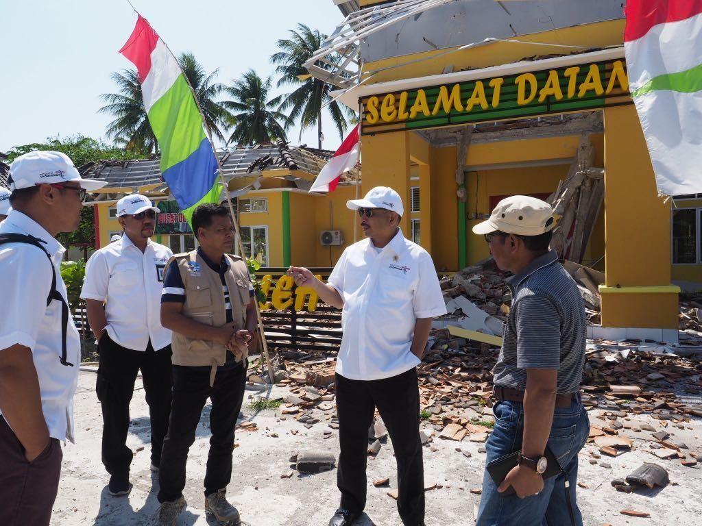 Menpar Tinjau Infrastruktur Pariwisata di Lombok Pasca Gempa