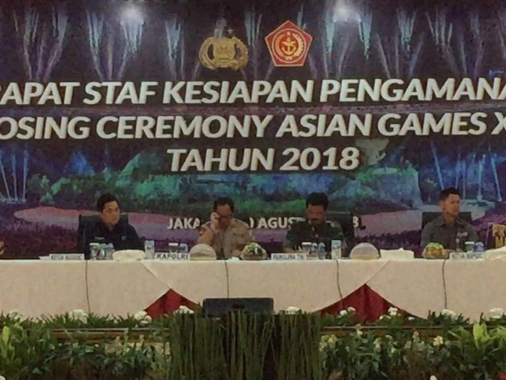 Kapolri hingga Erick Thohir Rapat Pengamanan Penutupan Asian Games