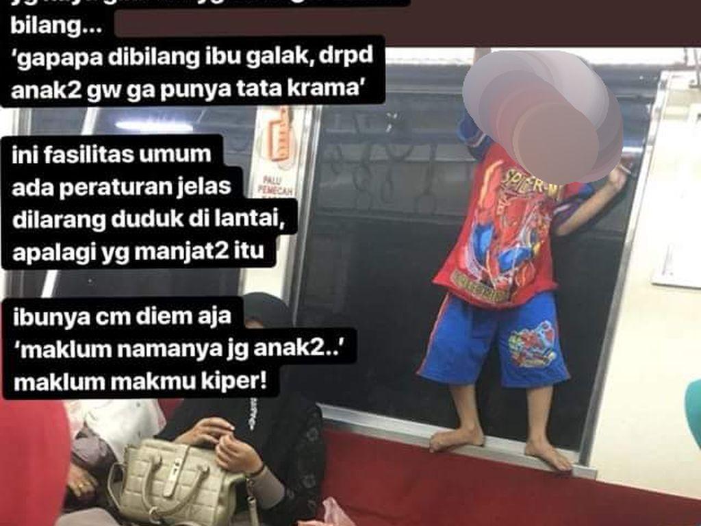 Viral Foto Anak-anak Main di KRL dan Diprotes Penumpang