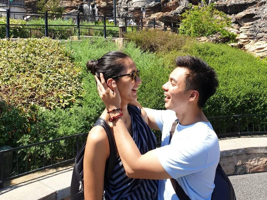 Mesranya Baim Wong & Paula Verhoeven di Tokyo DisneySea