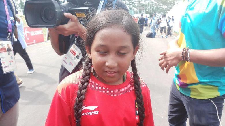 Angkat Topi untuk Aliqqa Novvery, Si Atlet Termuda Asian Games 2018