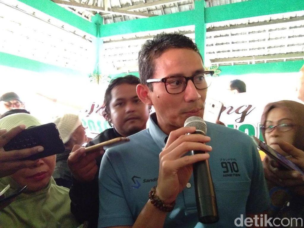 Kata Sandiaga tentang Deddy Mizwar yang Jadi Jubir Jokowi