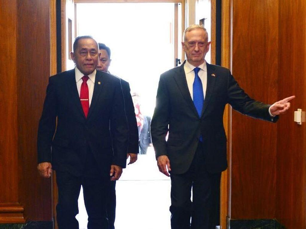 Ryamizard Bertemu Menhan AS di Pentagon, Bahas Kebijakan Pertahanan