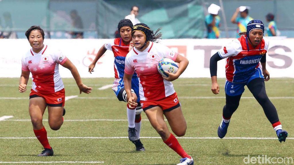 Jepang Taklukkan Tim Rugby Putri Indonesia