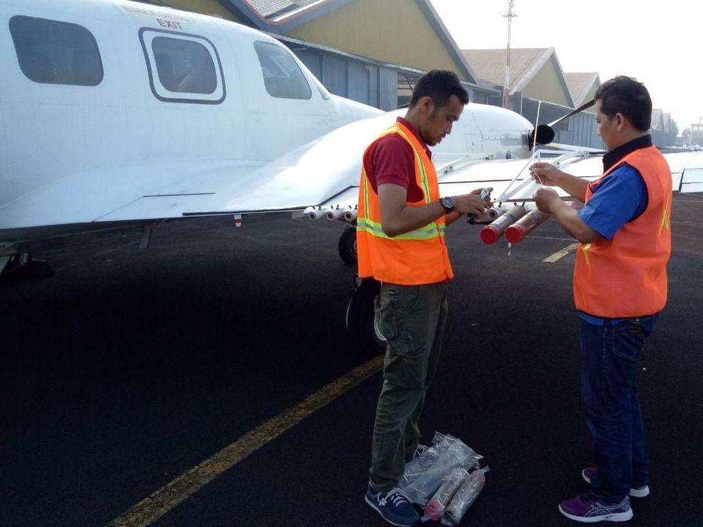 BPPT Sebar Flare Atasi Asap Karhutla di Area Asian Games Palembang