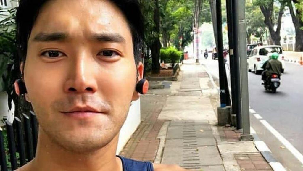 Ini Potret Siwon Suju Jogging di Jakarta Sebelum Tutup Asian Games