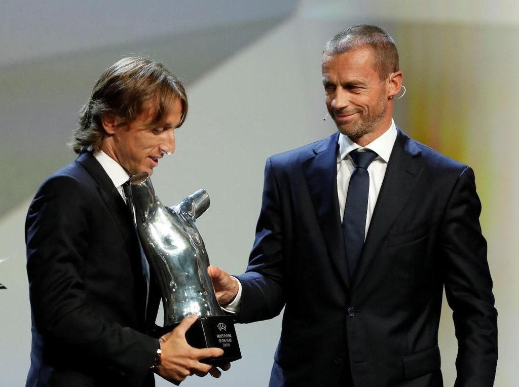 Foto: Luka Modric Nomor 1, Ini Urutan 10 Besar Pemain Terbaik UEFA