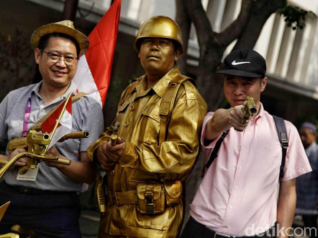 Serunya Kontingen Asian Games Wisata di Kota Tua