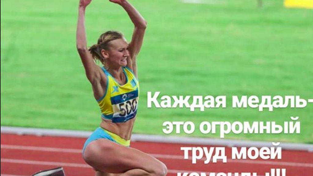 Kazakhstan Raih Emas, Begini Atlet Cantik Olga Rypakova Melatih Fisiknya