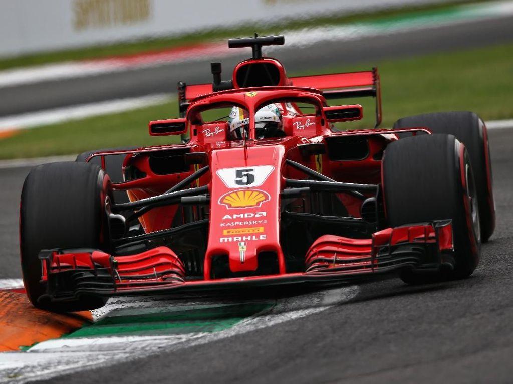 Vettel Tercepat di Sesi Latihan Bebas Kedua GP Italia