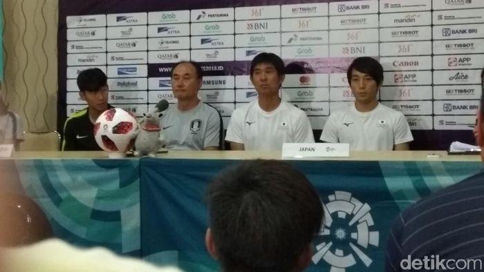 Pelatih timnas Korea Selatan, Kim Hak-bum. (Foto: Amalia Dwi Septi/detikcom)