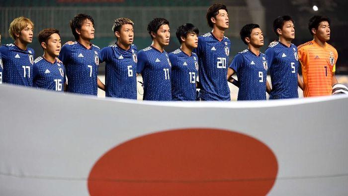 Timnas Jepang akan menghadapi Korea Selatan di final Asian Games 2018. (Foto: Dwi Prasetyo/ANTARA/INASGOC)