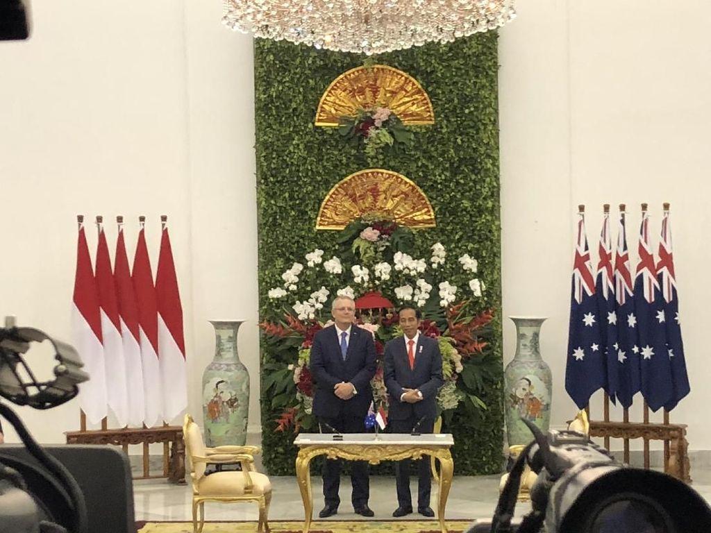 Jokowi: RI Terhormat Jadi Negara Pertama yang Dikunjungi PM Scott