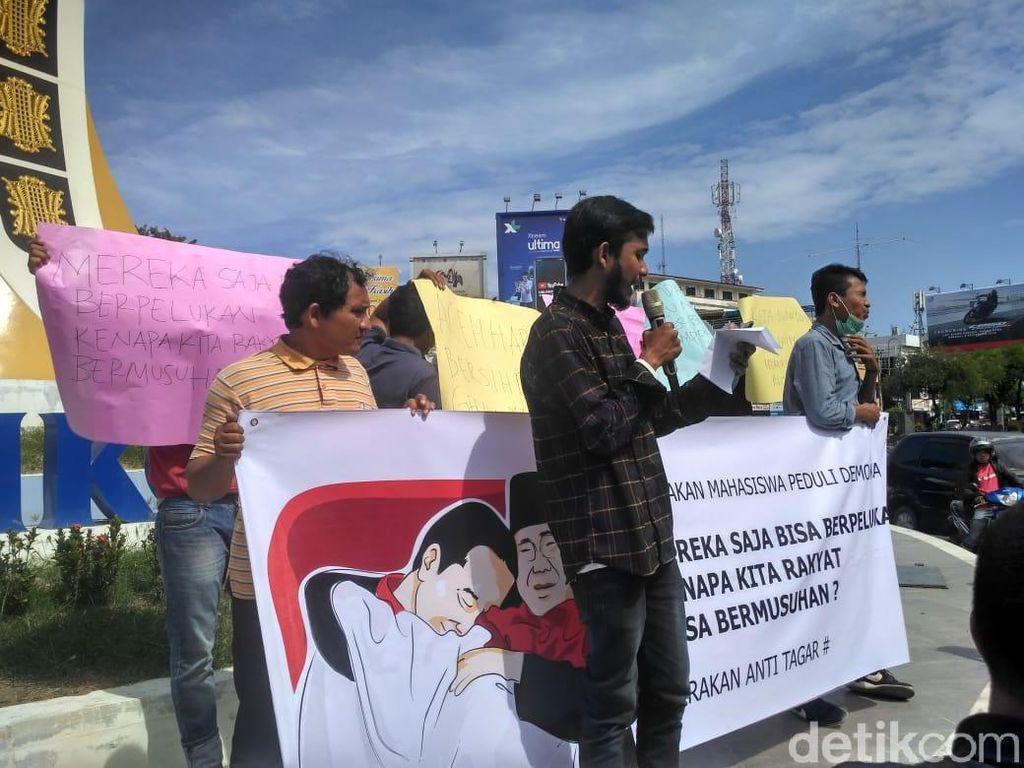 Massa di Aceh Tolak Perang #2019GantiPresiden Vs #Jokowi2Periode