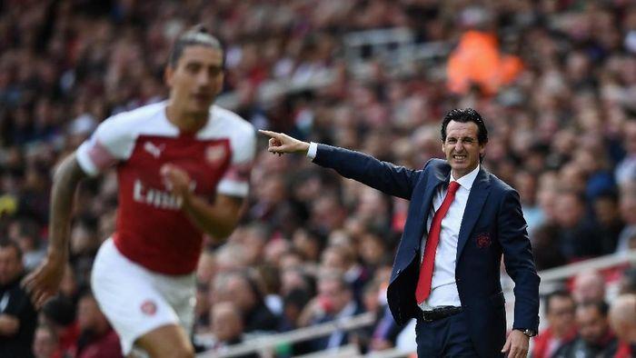 Arsenal tengah dalam tren oke selalu menang 9 laga beruntun, tapi Unai Emery belum puas (Clive Mason/Getty Images)