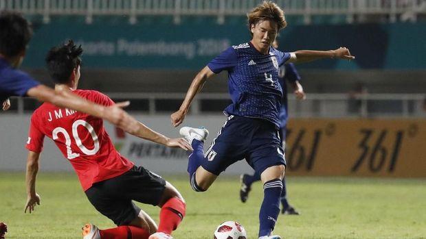 Timnas Jepang memberikan perlawanan sengit melawan Korea Selatan di final Asian Games 2018.
