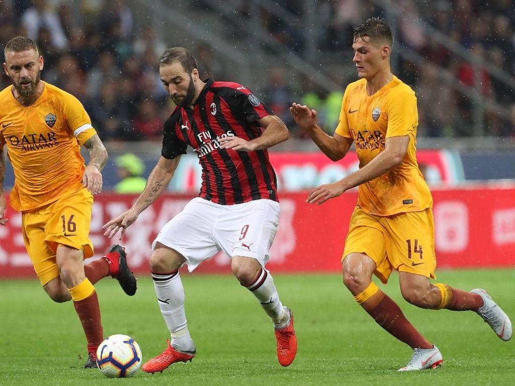 Hasil Liga Italia: Diwarnai Dua Gol Dianulir, Milan Kalahkan Roma 2-1
