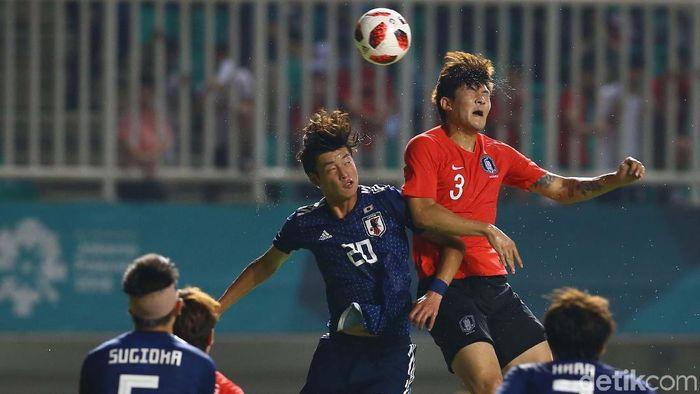 Korea Selatan rebut medali emas Asian Games 2018 cabor sepakbola. (Foto: Grandyos Zafna/detikSport)