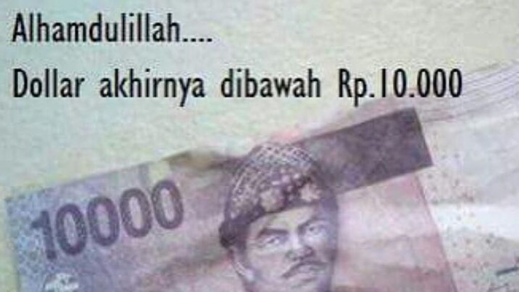 Lucunya Deretan Meme Dolar AS yang Perkasa Lawan Rupiah