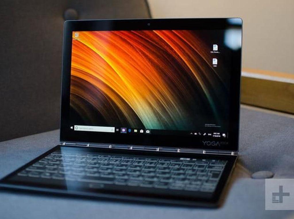 Wujud Keren Laptop Lenovo Pakai Layar Ganda