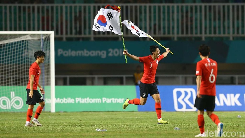 2 Gol Korsel di Final Asian Games, Pembebas Wajib Militer