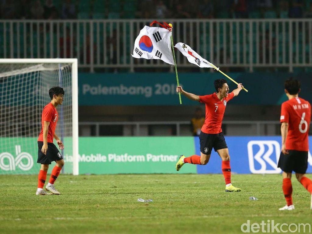 2 Gol Korsel di Final Asian Games, Pembebas Wajib Militer