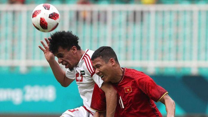 UEA menyabet medali perunggu sepakbola Asian Games 2018 usai menang adu penalti lawan Vietnam (Foto: Charlie/ANTARA FOTO/INASGOC)