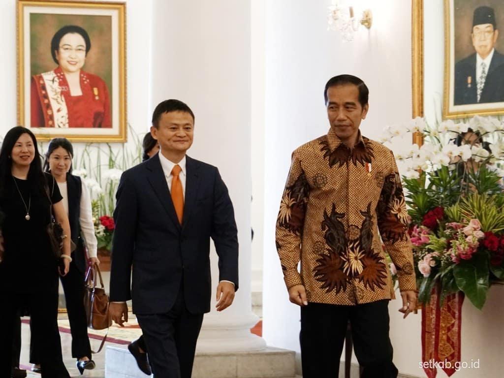 Jack Ma Manusia Rp 570 Triliun Kagumi Aksi Motor Jokowi